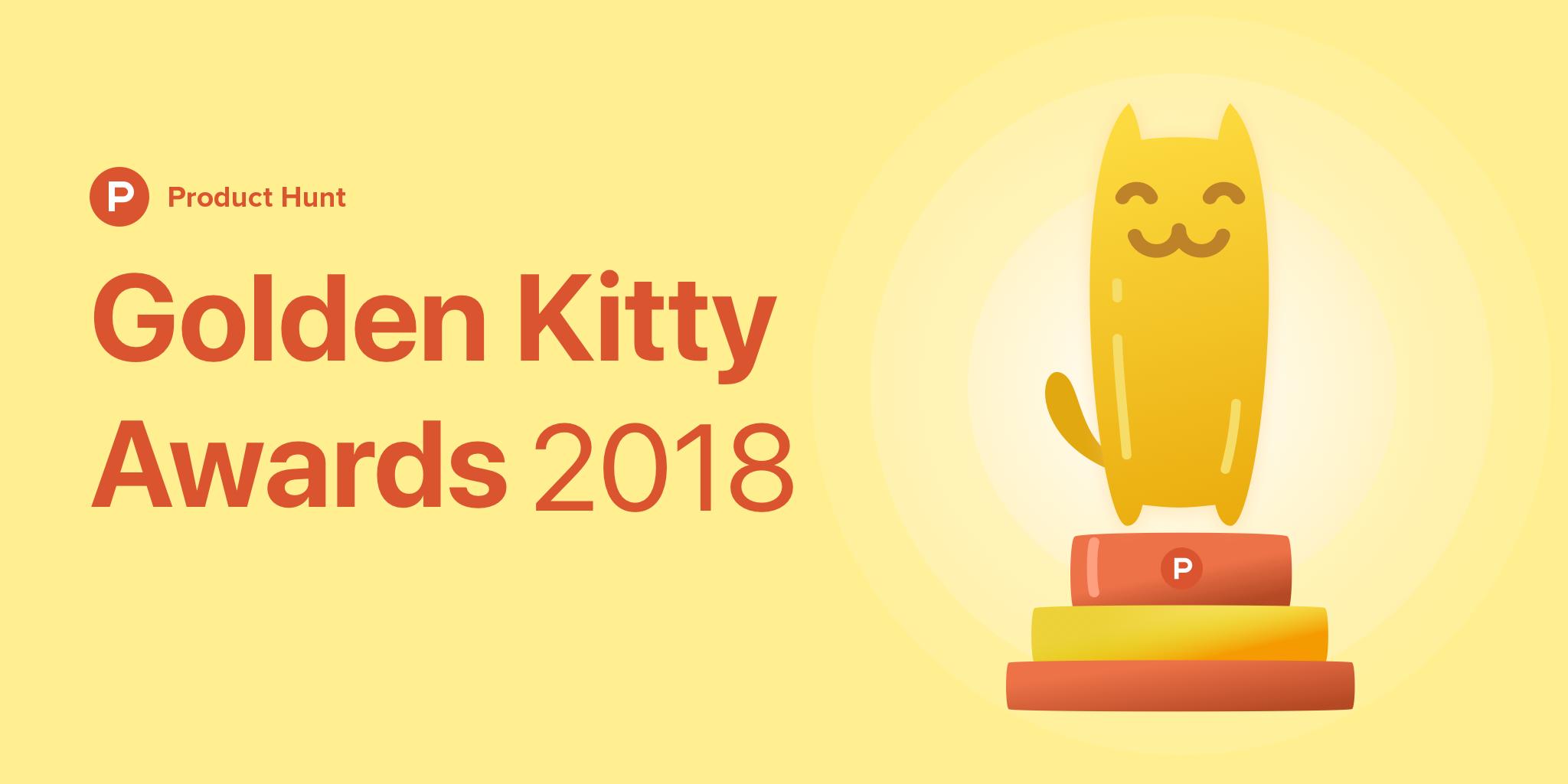 Product Hunt Golden Kitty Awards 2018